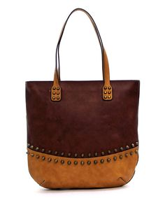 Another great find on #zulily! Brown & Tan Krisella Tote by d'Orcia #zulilyfinds