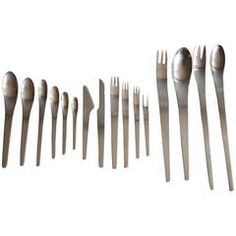 Cutlery in Stainless Steel by Arne Jacobsen