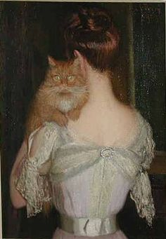 Lilla Cabot Perry (1848-1933) Woman with Cat
