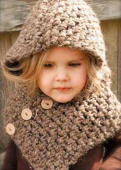 gorros niños cuello triangulo tejido a crochet artesanal