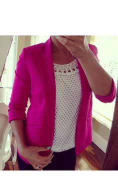 Valerie Pink Tailored Blazer Pre order Dispatch on the 17-7-14 - Lady VB