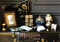 Monsoon home - love the ethnic style with splashes of turquoise