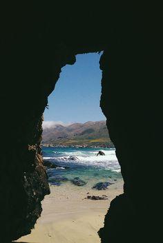 Sea cave in Garrapata State Beach, Notleys Landing, California_ USA
