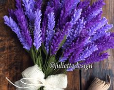 This item is unavailable Felt Lavender Lavender Felt Lavender Bouquet by juliettesdesigntr Paper Flowers Diy, Felt Flowers, Flower Crafts, Fabric Flowers, Origami Flowers, Lavender Bouquet, Lavender Flowers, Flower Bouquet Wedding, Felt Flower Bouquet