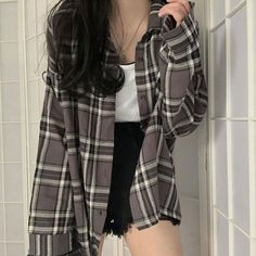 Korean Casual Outfits, Korean Outfit Street Styles, Edgy Outfits, Cute Casual Outfits, Pretty Outfits, Simple Outfits, Korean Girl Fashion, Ulzzang Fashion, Korean Street Fashion