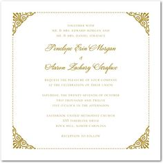 Coiled Corners - Thermography Wedding Invitations - Sarah Hawkins Designs - TH Gold - Neutral : Front Typography Wedding Invitations, Invites, Invitation Ideas, Classic Elegance, Paper Goods, Unique Weddings, Big Day, Marriage, Wedding Inspiration