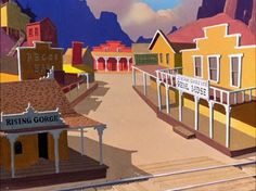 Animation Backgrounds: BUGS BUNNY RIDES AGAIN (Warner Bros., 1947)