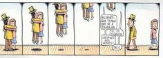 Love is in the air-Liniers Background Cool, Internet Art, Soul On Fire, Humor Grafico, Calvin And Hobbes, Good Thoughts, Comic Strips, Hugs, Illustrations Posters