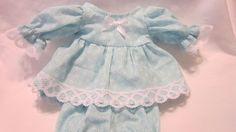 "Aqua Floral Print Dress/bloomers, fits 10"" Lots to Love Berenguer babies #KindredHeartsDesigns"