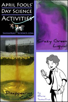 April Fools Day Science Activities from Sassafras Science Stem Projects, Science Projects, Science Activities, Science Experiments, Homeschool Science Curriculum, April Fools Day, School Holidays, The Fool, Adventure