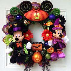 Halloween Minnie Mickey Mouse Wreath by SparkleForYourCastle, $172.00