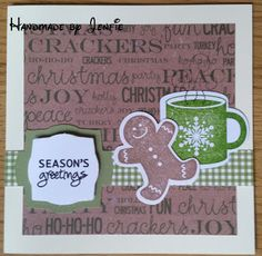 Handmade by Jenfie - Stampin' Up Scentsational Season Gingerbread Man Gumball Green Coffee Mug Craftwork Cards Greetings Christmas Papers