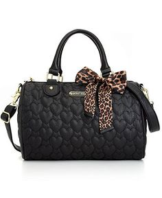 Betsey Johnson Handbag, Quilted Satchel - Handbags & Accessories - Macy's