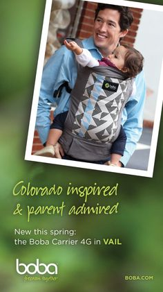 Welcome our other newest Colorado Rocky-inspired Boba 4G baby carrier in VAIL. #babywearing #babycarrier #wearallthebabies