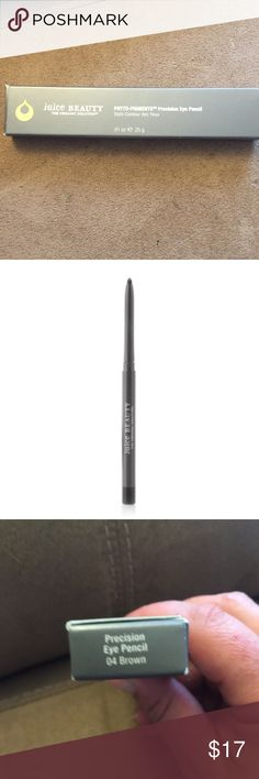 NWT Juice Beauty eye pencil NWT Juice Beauty Phyto-Pigments precision eye pencil in brown. Full size. No trades. juice beauty Makeup Eyeliner