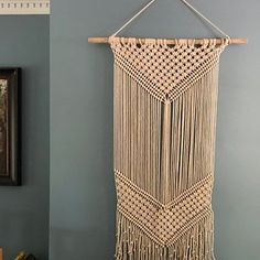 Items similar to Large wall tapestry, large macrame wall hanging, woven wall art on Etsy Yarn Wall Art, Yarn Wall Hanging, Large Macrame Wall Hanging, Tapestry Wall Hanging, Giant Dream Catcher, Dream Catcher Boho, Dream Catchers, Baby Shower Boho, Crochet Dreamcatcher
