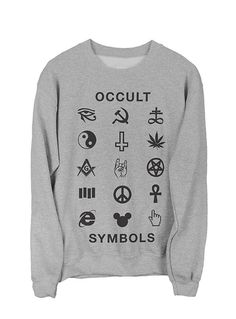 Occult Symbols Sweatshirt Black on Heather Grey – Killer Condo