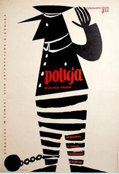 By Leon Kaja Zbigniew (1924-1983), 1959, Policja. (P)
