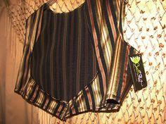 Striped Brocade Turkish Vest  Belly Dance ATS SCA Ren by BelliPhat, $40.00