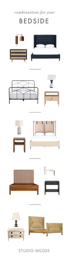 Bed + Nightstand + Lighting Combinations, Bedroom Interior Design, How-to design a bedroom, furniture in bedroom— STUDIO MCGEE BLOG