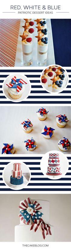Red, White & Blue Dessert Inspiration on TheCakeBlog.com