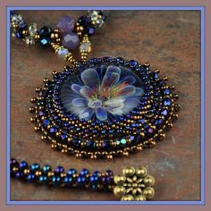 Beaded Lampwork Flower Necklace by Beaded Art Jewelry, via Flickr
