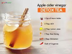 Start your with this pleasant-tasting tea. These 12 Detox drinks are the most effective and delicious way to concoct an elixir that energizes you, fights bloating and helps you lose weight. Vinegar Detox Drink, Apple Cider Vinegar Detox, Apple Cider Vinegar Benefits, Apple Cider Vinegar For Weight Loss, Tumeric Benefits, Dr Oz Detox Drink, Apple Cider Vinegar Diabetes, Water Benefits, Detox Tea Diet