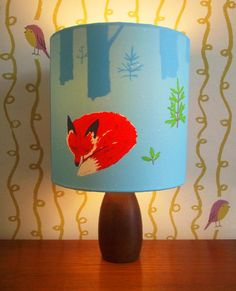 Handmade Fox Lampshade by Gerry Turley by thePlanChest on Etsy