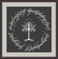 White Tree of Gondor cross stitch pattern by CrossStitchForYou