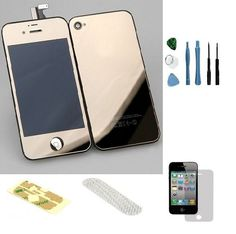 Iphone 4 GSM (At&t) Complete Color Change Kit (Mirror Gold) #http://www.pinterest.com/ordercases/