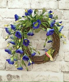 Floral Spring Wreath, Summer Wreath for Door, Front Door Wreath, Silk Floral… Diy Spring Wreath, Summer Door Wreaths, Wreaths For Front Door, Wreath Crafts, Diy Wreath, Grapevine Wreath, Wreath Ideas, Etsy Wreaths, Owl Wreaths