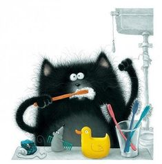 always brush your teeth ;) #cat #fun