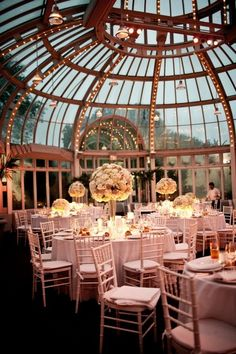 The Palm House at the Brooklyn Botanic Garden. I love the idea of going to a botanical garden for a wedding