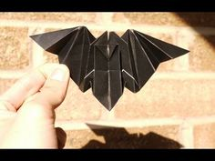 """Origami bat to go with the Summer Reading theme of """"Own the Night"""" for teens for 2012. Maybe the Anime Club would like this."""