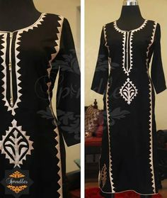 Beautiful pakistani dress Pakistani Designer Suits, Pakistani Dress Design, Indian Designer Wear, Beautiful Pakistani Dresses, Beautiful Dresses, Applique Dress, Embroidery Dress, Applique Quilts, Sindhi Dress