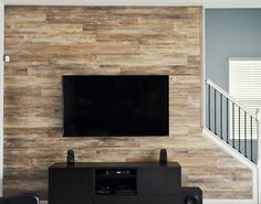 Wood Wall We Installed In Our Home This Is Wood Laminate Flooring We Moved