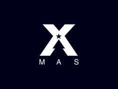 X-Mas #logo shows a Christmas tree in the negative space