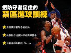 籃球筆記 - 【禁區技巧】把防守者定住的禁區進攻技法