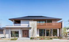 Japanese Modern House, Modern Tropical House, Modern Zen House, Style At Home, Villa, Dream House Exterior, Facade House, Modern Architecture, House Styles