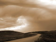 """Road to the Sky"" digital photograph. By Cris Fulton, Bowman, North Dakota, 2011."