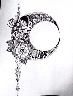 Crescent Moon Tattoo Drawing