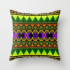 Tribal One Throw Pillow by Lyle Hatch - $20.00