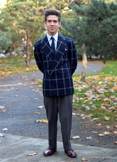 Jeppe in Bespoke Double Breasted Jacket and Grey Flannel Trousers