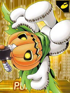 Pumpkinmon Digimon Collectors card