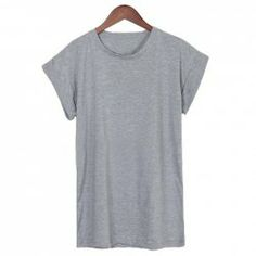 $6.62 Plus Size Round Neck Batwing Short Sleeve T-Shirt For Women