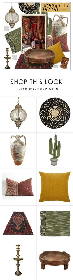 """bohemian dream: moroccan decor"" by jesuisunlapin ❤ liked on Polyvore featuring interior, interiors, interior design, home, home decor, interior decorating, Currey & Company, DAY Birger et Mikkelsen, Abigail Ahern and L'Objet"