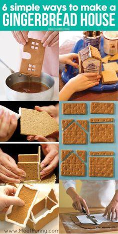 6 Easy Ways to Make a Gingerbread House