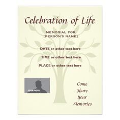 10 Best Funeral Invitations Images Funeral Invitation Funeral