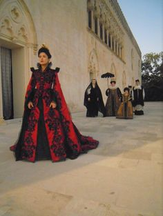 Costume designed by Massimo Cantini Parrini for Salma Hayek in Tale of Tales (2015) From Tirelli Costumi