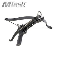 A great crossbow for having some fun, the Mtech USA MC-DX70 80 Lb Pistol Style Crossbow is self cocking and comes with two bolts. More are available on our site! PISTOL CROSSBOW 20″ (L) X 16.5″ (W) NYLON FIBER BODY FIBERGLASS LIMB SELF COCKING NYLON FIBER BARREL AND HANDLE INCLUDES 2 ALUMINUM BOLTS